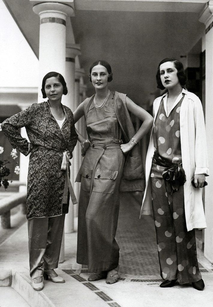 Schiaparelli Fashions, 1929. #vintage #1920s #loungewear #summer #fashion
