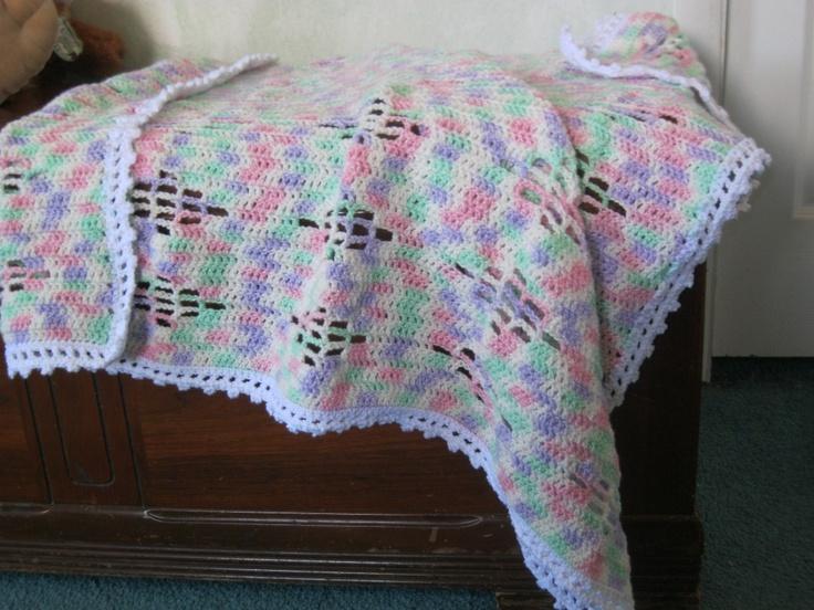 Crochet Baby Blanket Diamond Pattern : Baby Diamonds crochet pattern Colors, The ojays and ...