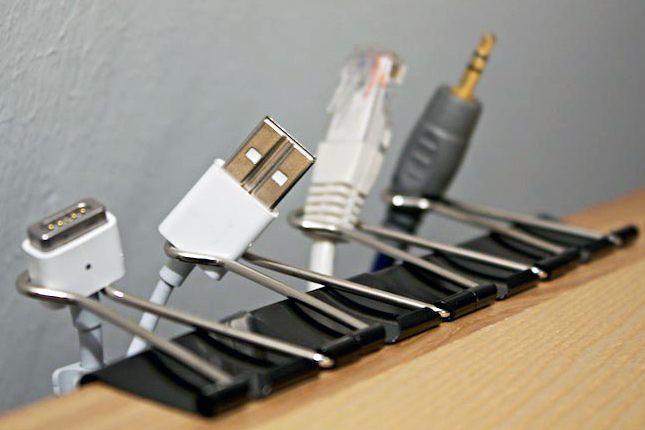 opbergtips - kabel klemmen