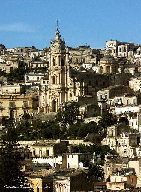   ♕   Baroque Church in Modica, Sicily   by © Salvatore Brancati