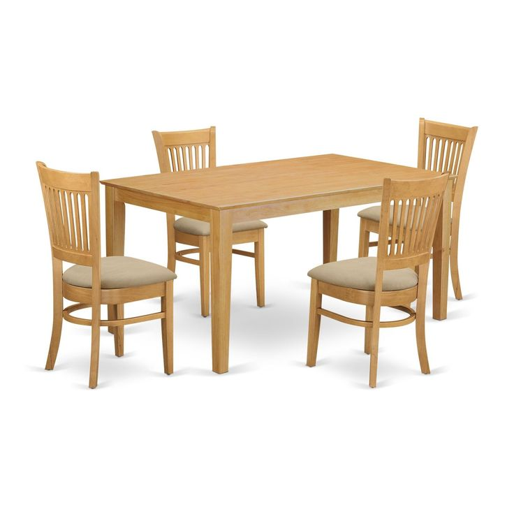 CAVA5-OAK 5-Piece Small kitchen table set - kitchen table and 4 dining chairs
