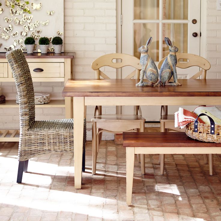 Carmichael Antique Ivory Dining Table Ivory