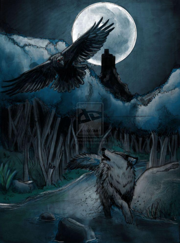 картинки волки с воронами каждом мужском портфолио