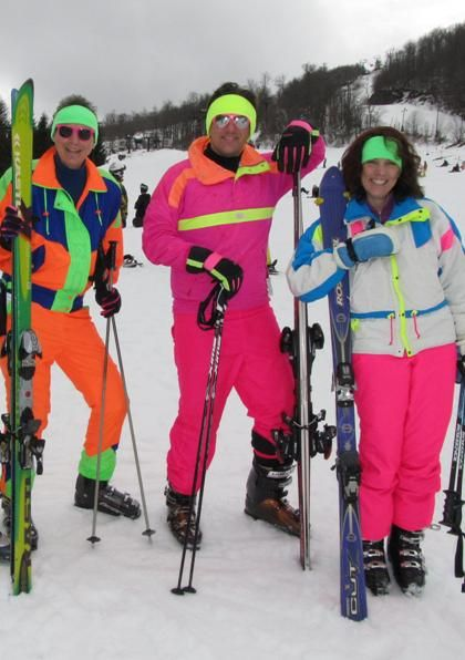 Retro 80s ski weekend