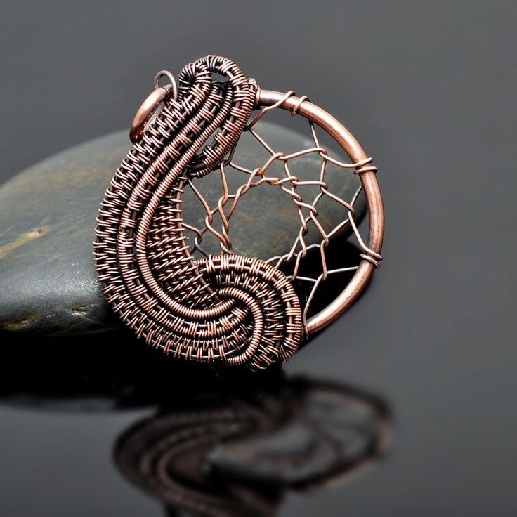 Wire Wrap Pendant Wire Wrap Necklace Dreamcatcher Dream