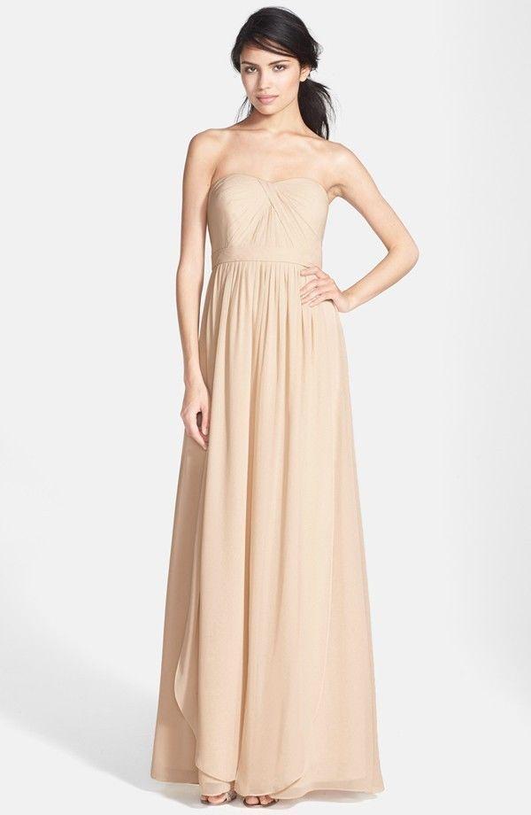 f2ac591fc7b NWT Jenny Yoo Aidan Convertible Strapless Chiffon Gown Champagne Size 16   321  JennyYoo  SheathDress  Formal
