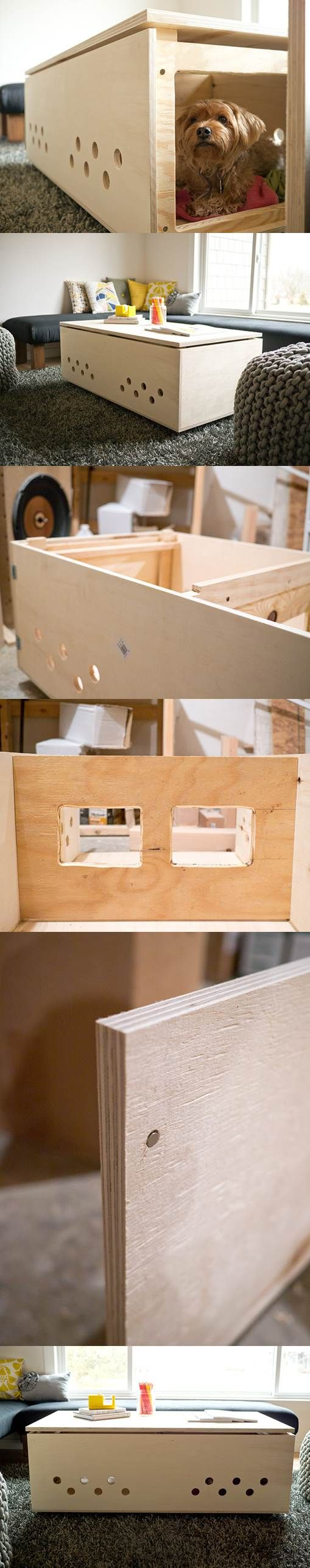 DIY Modern Pet Crate Coffee Table 2