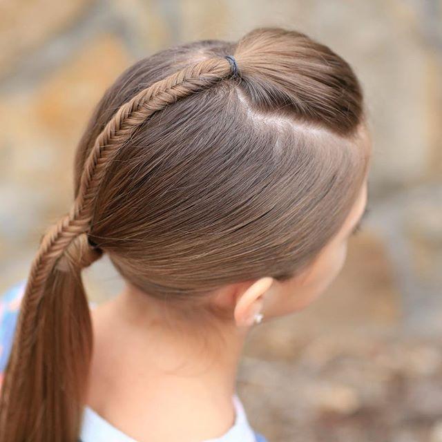 Meerjungfrau Herz Zopf | Süße Valentinstagsfrisuren | Süße Mädchen Frisuren