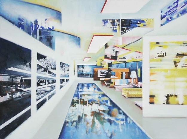Henk van den Bosch, Wel, 2011. Olie op doek, 90x120cm