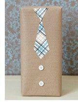 Fathers Day gift wrapping idea | shirt and tie gift wrapping idea