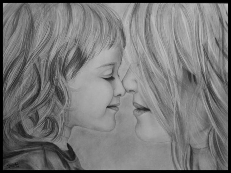 mother and daughter relationship sketches of angels