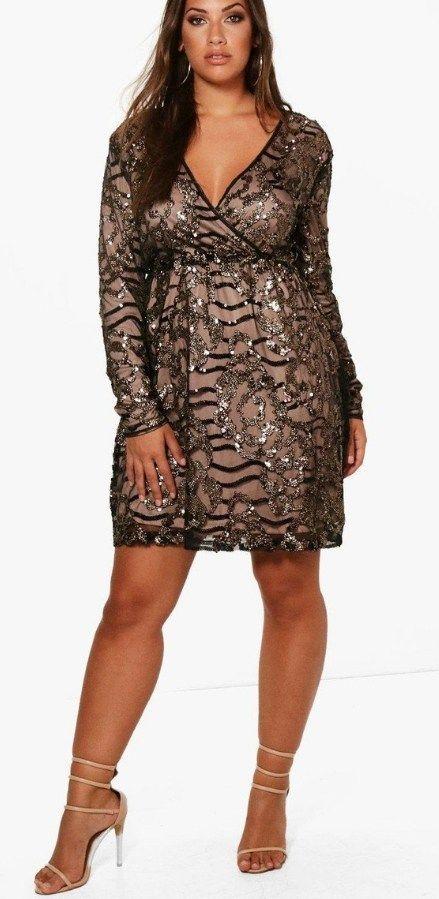 0b115c6a3d 24 Plus Size Sequin Dresses - Plus Size Holiday Party Dress - Plus Size  Fashion for Women - alexawebb.com  plussize  alexawebb