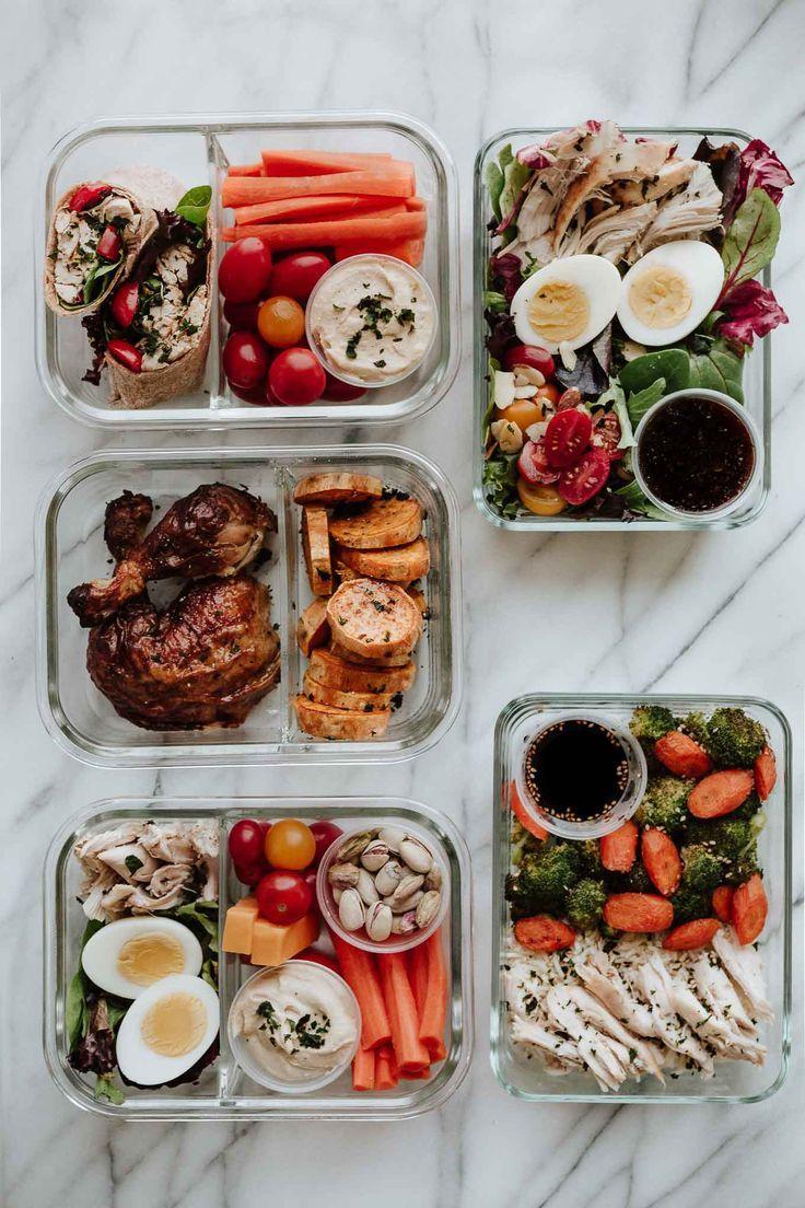 5 einfache Mahlzeiten zum Zubereiten mit 1 Brathähnchen. Gesunde Mittagessen, d…