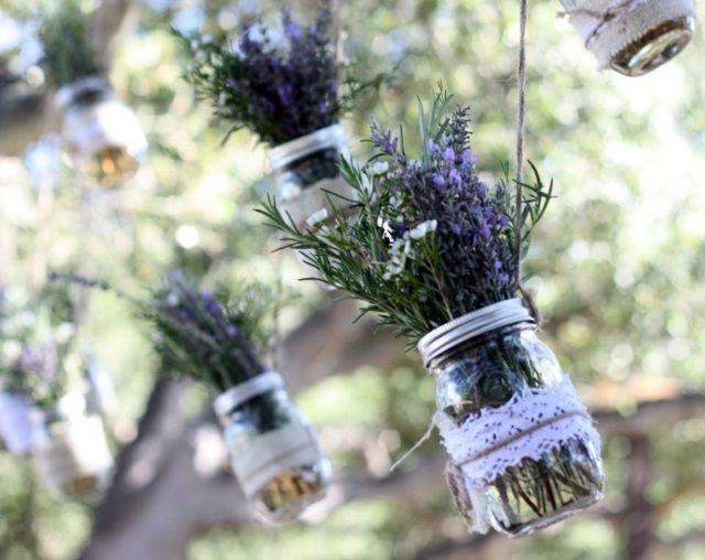 Einweckgläser Deko Lavendel Spitze Garten