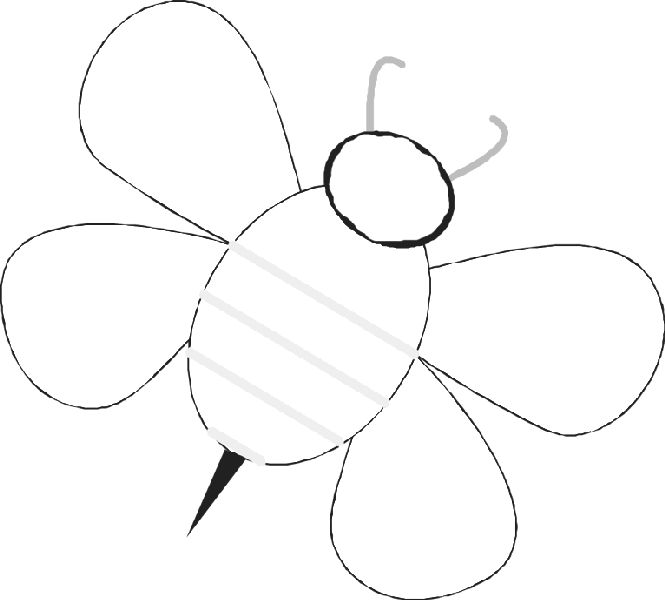 Free Bee templates - basic bee (put student\u0027s pics in the middle