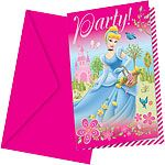 Flotte invitationer til din prinsesse fødselsdag.
