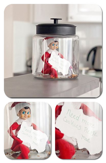 elf on the shelf needs more cookies or candy