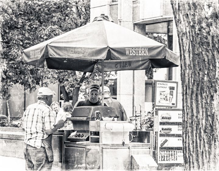 When the food carts come out, it's summer in the city! Shot on Broadway in Winnipeg by Carla Dyck.