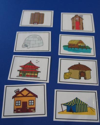 Les maisons : accessoires pour activités préscolaires - Les éditions Boîte à…