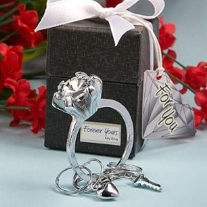 Forever Yours Collection diamond ring design key ring favors