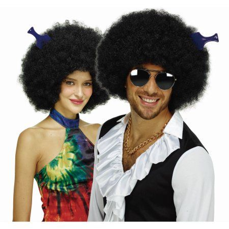 Afro Wig Black Halloween Costume Accessory