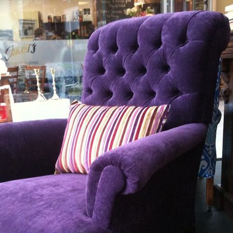 Purple-licious Deep Buttoned Rolled Armchair - ReVamp Vintage