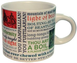 Shakespeares Insults Mug: Cups, Gifts Ideas, Memorial Mugs, Shakespeare Insults, Art, Shakespearean Insults, Things, Products, Coffee Mugs