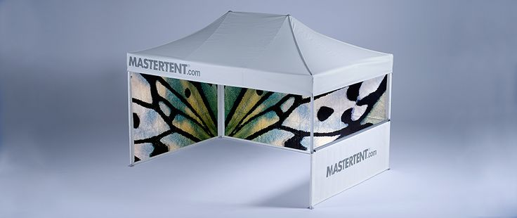 MASTERTENT offers many possibilities to personalize your folding tent.  http://www.mastertent.com/en/tents/classic/classic-6.html