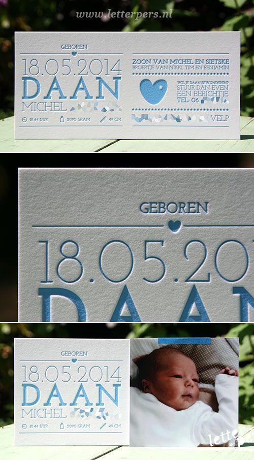 letterpers_letterpress_geboortekaartje_daan_blauw_foto_strak_typografisch