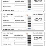 Printable Airplane Boarding Pass Invitations, airplanes, clouds & etc...free