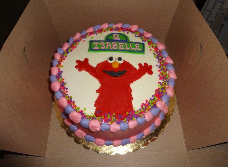 Elmo cake for a little girl :) - Erin Miller Cakes - https://www.facebook.com/erinmillercakes