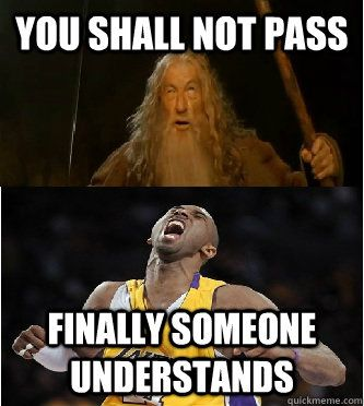 So Kobe why do you never pass the ball? Matter of fact, come up ...