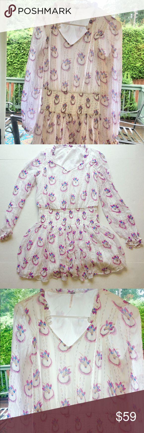 Freie Menschen weiß Baumwolle Minikleid Boho chic S wunderschöne Freie Menschen Boho …