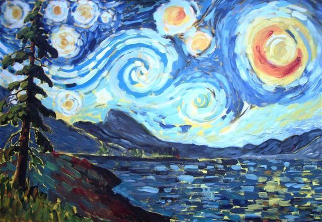 17 best images about mrs knight 39 s van gogh starry night for Van gogh paintings locations