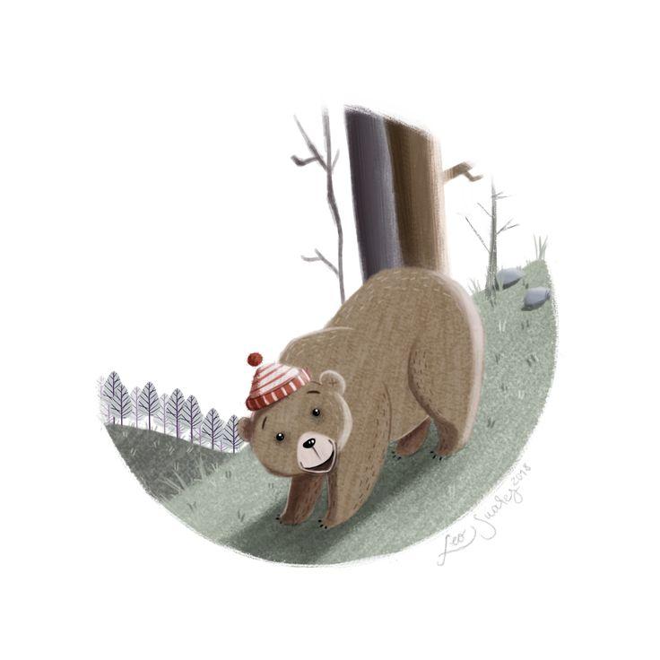 Ilustración Infantil Oso #Bear #DigitalIllustration #Wacom #ChildreIllustration
