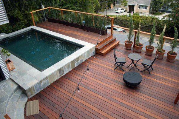 Small Pool Cool Backyard Decking Ideas Decks Backyard Deck