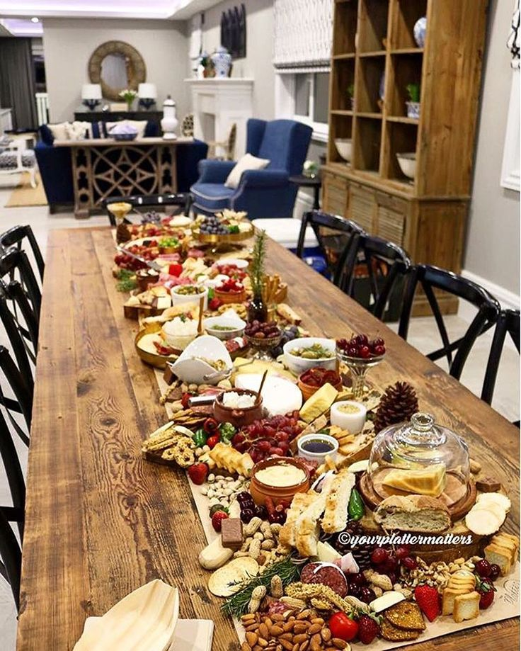 How incredible is this spread by @yourplattermatters! We can't get over this delicious looking platter... and our Mayfair console looks pretty good also #canvasandsasson #yourplattermatters #plattergoals