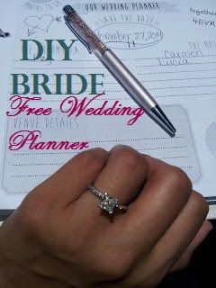 DIY Bride: How to make your own Wedding Planner book {Free Printables}