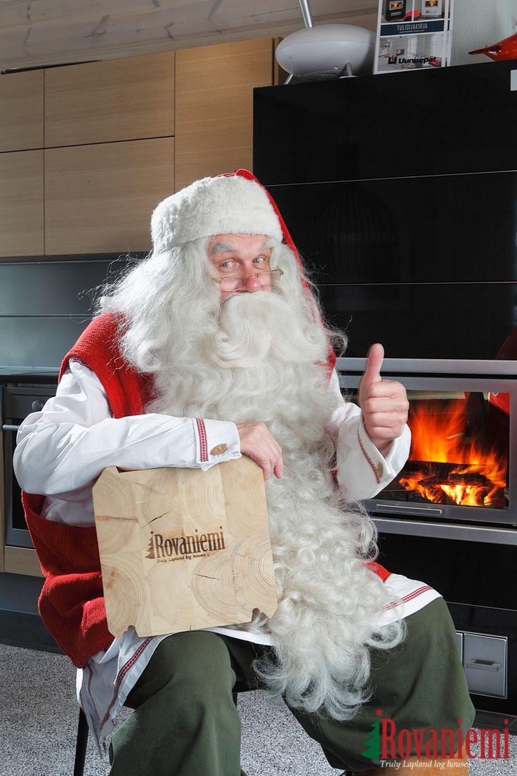 Santa Claus likes to visit Kieppi –Rovaniemi Log House Head Office.