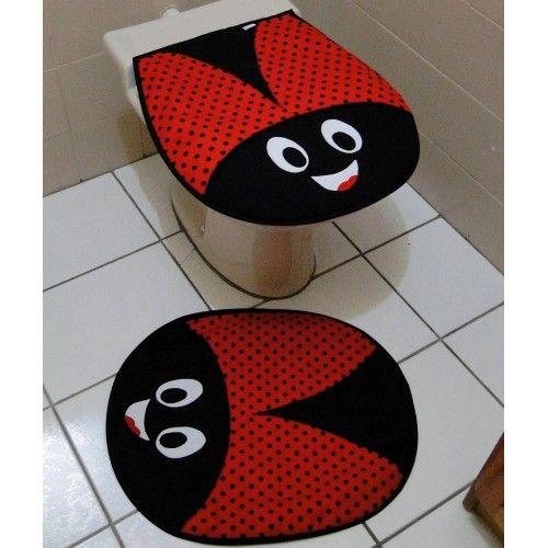 jogo de banheiro joaninhas.