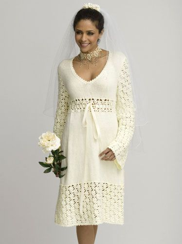 Our Favorite Things: Crochet Winter Wedding Dress by www.caron.com