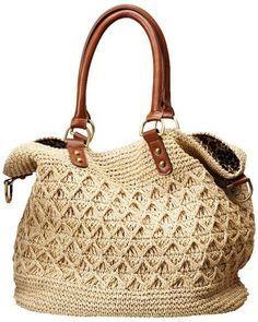 :) cream crochet purse natural