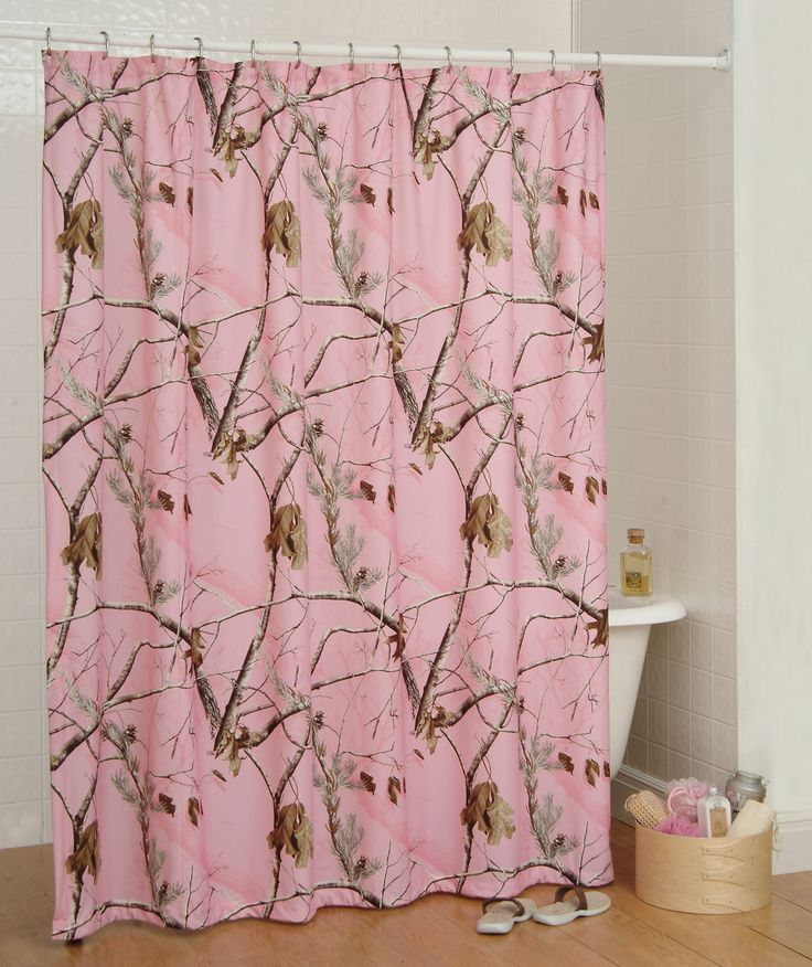 REALTREE AP PINK CAMOUFLAGE SHOWER CURTAIN - CAMO BATH ACCESSORIES picclick.com