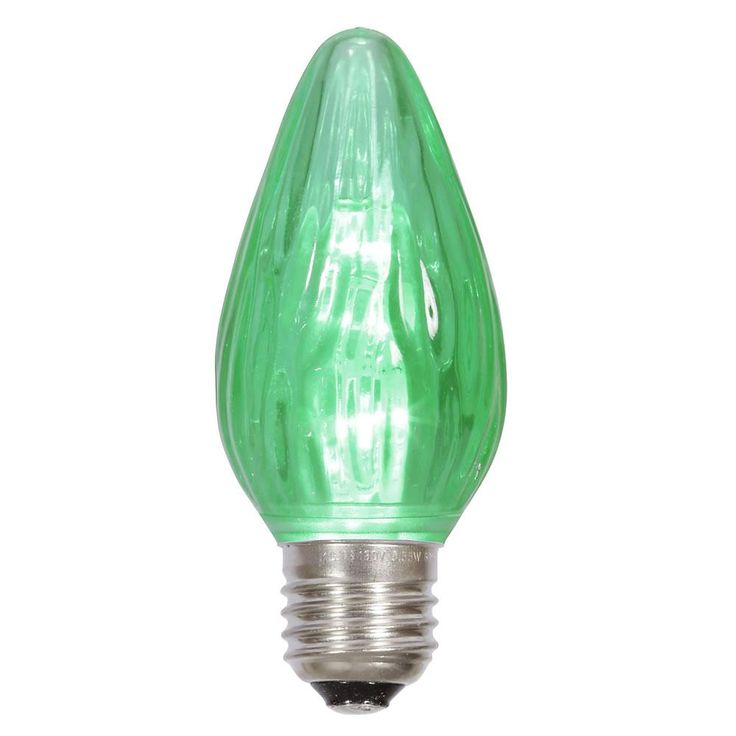 F15 Green Plastic Flame LED E26 base .96W