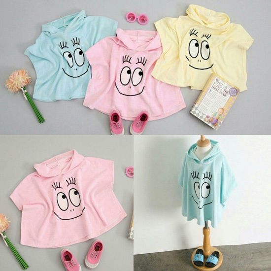Barbapapa Kids Baby Beach Towel 1P Swimwear Beach Towel Blanket Made In Korea    #BarbapapaKoreaKFashionKPOP