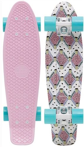 "Penny Skateboards 22"" - Penny Cruiser complete skateboard from Penny Skateboards. - Custom plastic injection molded Penny skate deck. - Great for cruising around town, at work or on campus, cutting so"