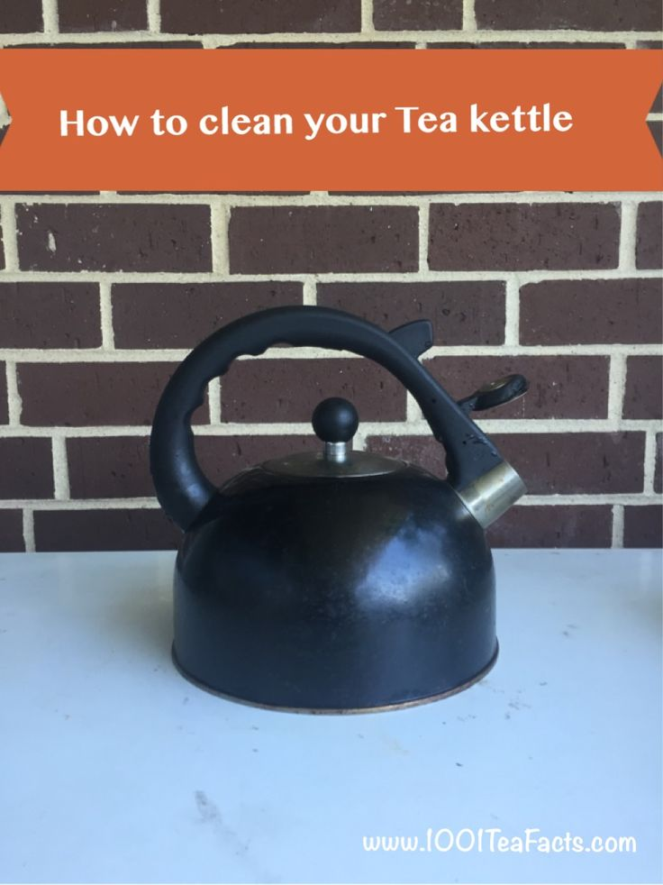 how to clean a tea kettle outside