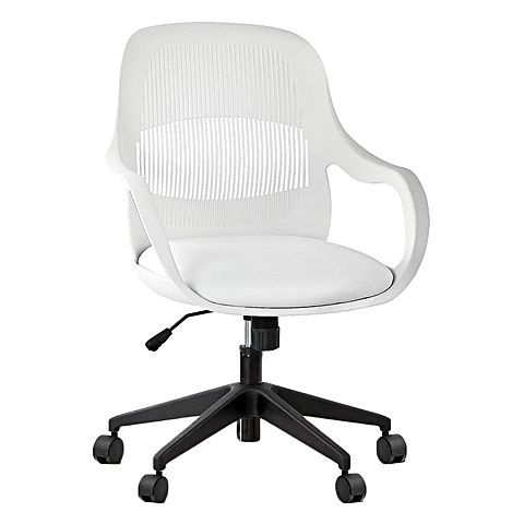 Complete your tasks in ease by sitting with the support of the contoured armrests on the Proust Office Chair, White from Resort Living.
