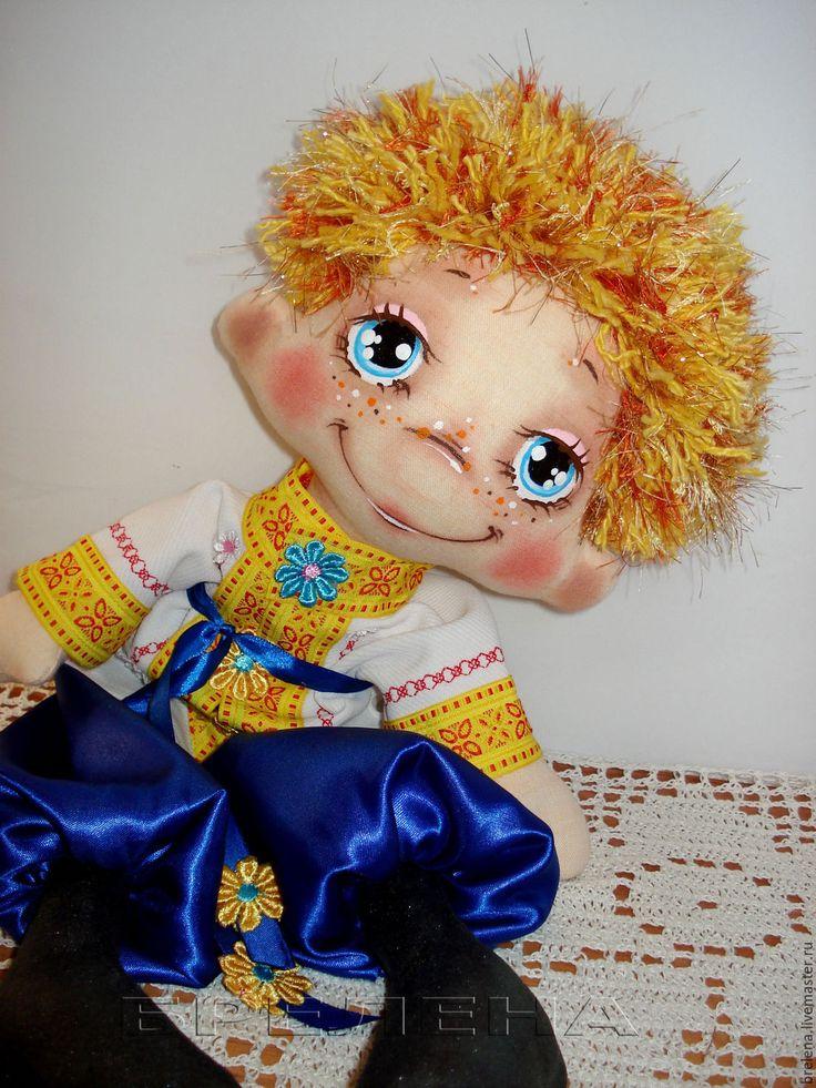 Купить РЕЗЕРВ!!!Текстильная кукла Маленький Солнышонок 2. - разноцветный, интерьерная кукла, текстильная кукла