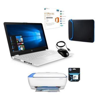 "HP PC PORTABLE 15.6""- 15BW038NF-RAM 4Go- Windows 10- AMD A6- Disque dur 1To + imprimante +souris + housse+ office + cartouche encre"